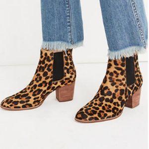 Madewell Regan Chelsea Bootie Leopard Calf Hair